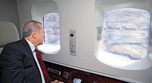 Cumhurbaşkanı Erdoğan 3. Havalimanı'nı inceledi