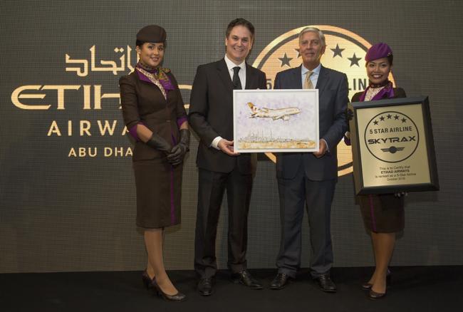 Etihad Airways beş yıldızlı havayolu oldu