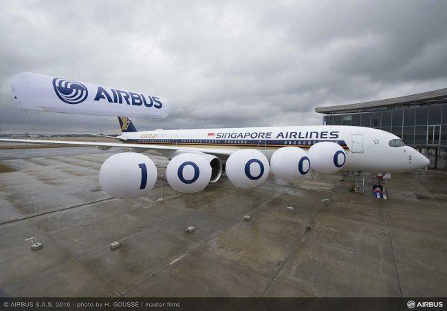 Airbus 10 bininci uçağını teslim etti