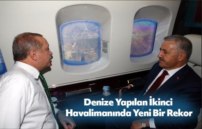UDH Bakanı Arslan Türkiye'nin ikinci dünyanın üçüncü denize yapılan havalimanını inceledi