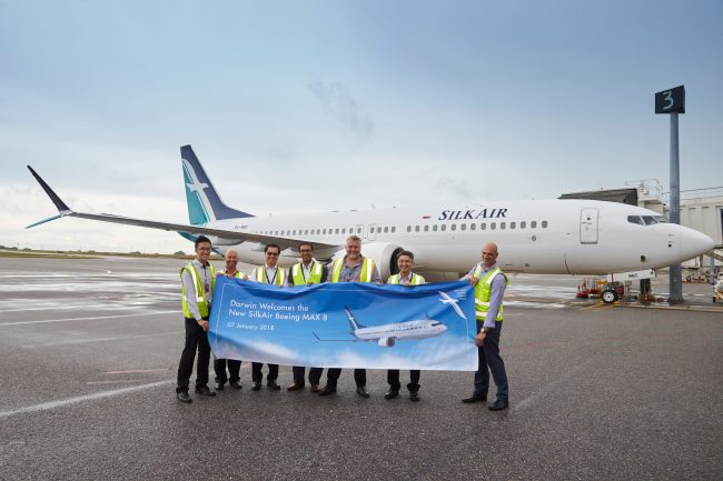 SilkAir, B737 MAX 8 ile Avusturalya uçuşlarına başladı