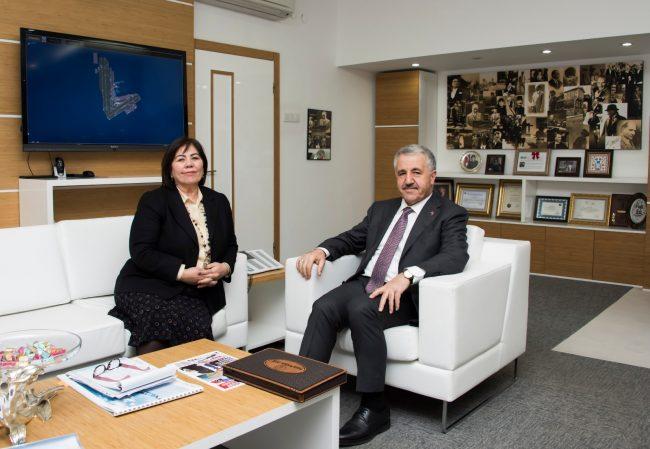 UDH Bakanı Arslan, DHMİ'yi ziyaret etti