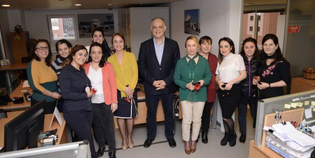 TGS Genel Müdürü Erkan, kadın çalışanlarını unutmadı