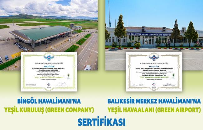 """SHGM havalimanlarına """"yeşil"""" sertifikaları dağıttı"""