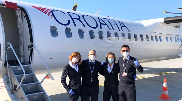 Croatia Airlines'te maske zorunluluğu getirdi
