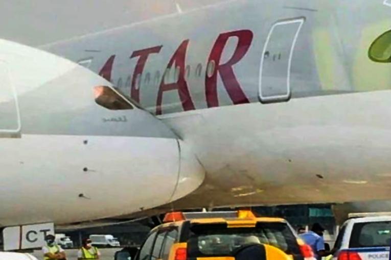 Doha'da şiddetli fırtına iki uçağın çarpışmasına neden oldu