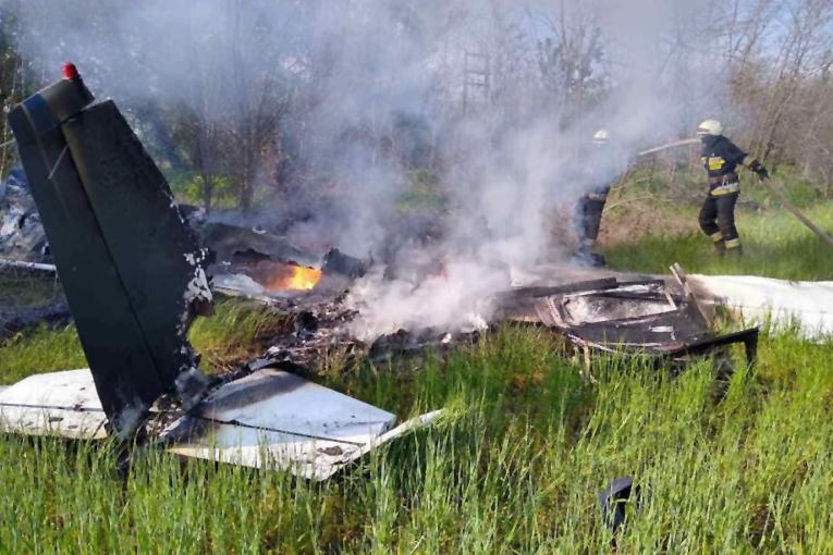 Ukrayna'da küçük uçak düştü; 2 kişi hayatını kaybetti