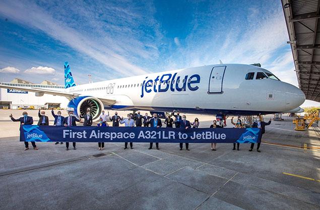 JetBlue, ilk Airspace tasarımlı A321LR siparişini teslim aldı