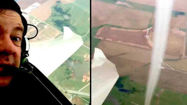 Planör pilotu Oklahoma'da hortumu görüntüledi