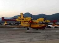 Hırvatistan yangın helikopterleri Gazipaşa'ya indiler
