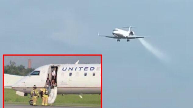 United Express CRJ uçağı acil indi